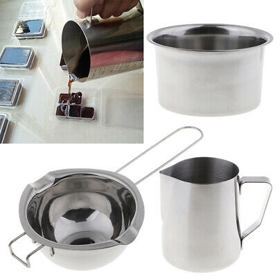 3x Stainless Steel Wax Melting Pot Pitcher Double Boiler For Soap Candle Making • 18.81£