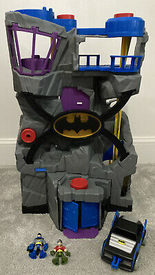 Imaginext DC Batman Bat Cave & Bat Mobile - With Batman & Robin Figures Too! • 29.95£
