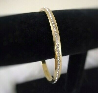 $ CDN35 • Buy Kate Spade All That Glitters Bracelet Pave Gold Bangle With Crystal Accents