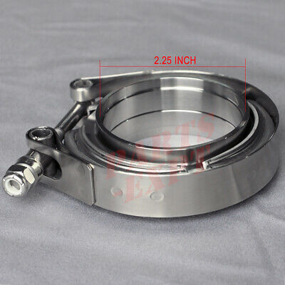 AU29.99 • Buy 2.25  Inch V-Band Clamp & Flange Kit Stainless Steel Exhaust Muffler Clamp