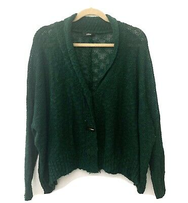$22 • Buy LF Millau Green Slouchy Sweater With Toggles