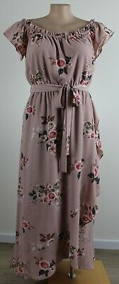 AU21.50 • Buy Pretty Pink Floral CITY CHIC On Or Off Shoulder Maxi Dress- Size XS (14)