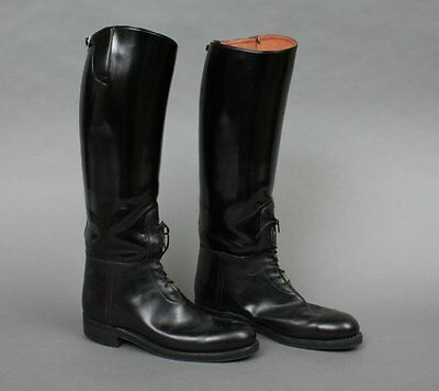 Men's Motorcycle Highway Police Patrol Leather Biker Tall Riding Boot UK 5-12 • 189£