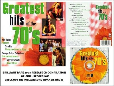 Best Greatest 70's Hits CD Rafferty Smokie Quatro Racey Dr Hook Tyler Pilot CCS • 4.95£