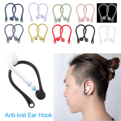 $ CDN4.61 • Buy 1 Pair Soft Silicone Protective Earhooks For AirPods Anti-lost Ear Hook Secure F