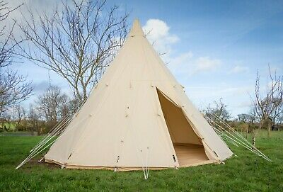 5 Metre Heavy Duty Polycotton Canvas Tipi Tent. Teepee. Bell Tent. Glamping.  • 595£