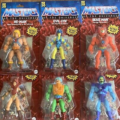 $119.95 • Buy Masters Of The Universe 5.5 Inch Action Figure Complete Set Of 6 MOTU 2020 Retro