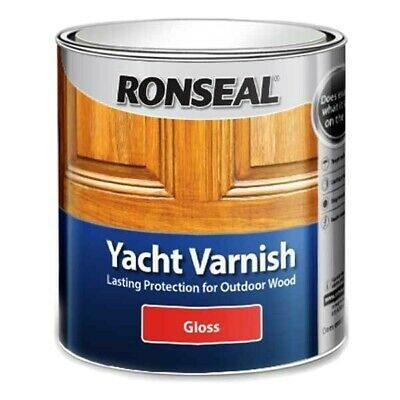 Ronseal Yacht Varnish Gloss, 250ml Outdoor Tough Clear • 14.50£