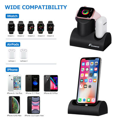 AU19.99 • Buy 3 In1 Charging Dock Charger Stand Station For Apple Watch IPhone Magnetic