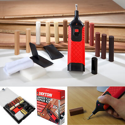 19pc Laminate Floor / Worktop Repair Kit Wax System Sturdy Case Chips Scratches • 14.99£