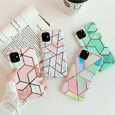 AU8.89 • Buy IPhone 12 Pro Max 11 XR XS MAX X 7 8 PLUS Case Marble Shockproof Silicone Cover