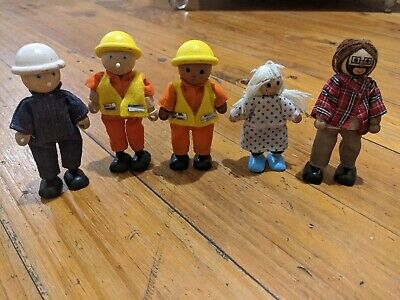 £10.14 • Buy 5 Wooden Toy People 3 Pintoy & 2 Unbranded 5 Men 1 Girl Toys