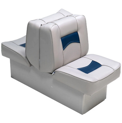 $ CDN273.33 • Buy Boat Seats  Classic Back To Back Reclining Lounger Gray/Blue Boating Marine Grd