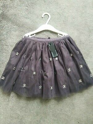 Stunning Grey Party Sparkly Embellished Tutu Skirt M&S MARKS AND SPENCER 6-7 • 5£