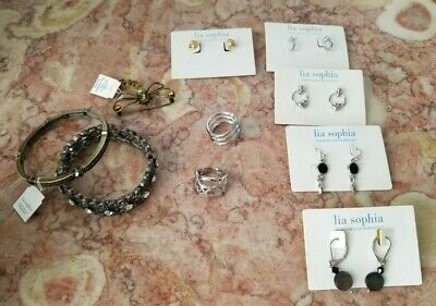 $ CDN65.90 • Buy Lot Of 10 NWT  Lia Sophia Jewelry-Earrings, Rings, And Brooch With Boxes