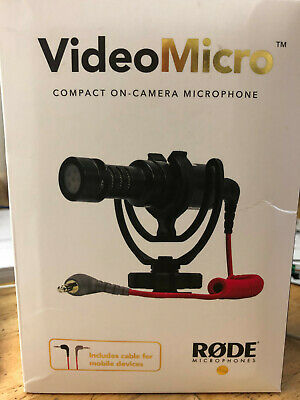 Rode VideoMicro Compact OnCamera Microphone Made In Australia W/cable For Mobile • 53.64£