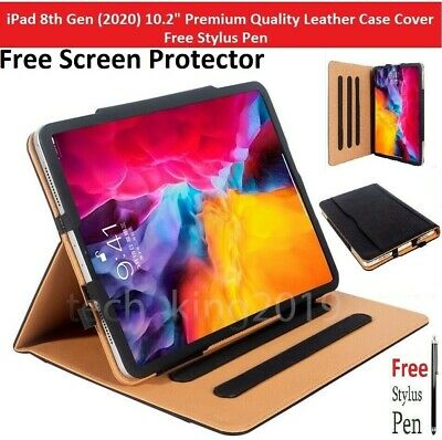 £11.57 • Buy For IPad 10.2  8th Generation 2020 Premium Leather Tablet Folio Case Stand Cover
