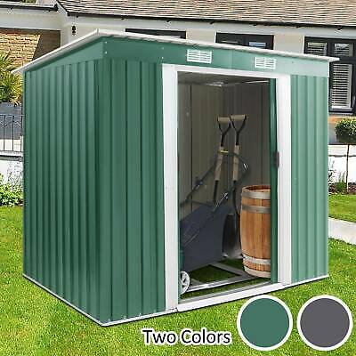 Garden Shed Storage Large Yard Store Door Metal Roof Building Tool Box Container • 159.99£