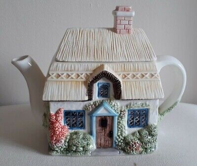 Summer Cottage From The Village Teapot Collectables Designed By Annie Rowe  • 5£