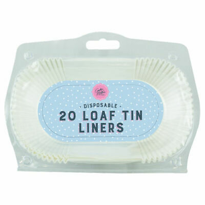 £4.99 • Buy Loaf Tin Liners - 20 Pack Grease Proof Paper Bread Cake Cases UK Non Stick Easy