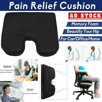 AU23.59 • Buy Memory Foam Lumbar Back Pillow Support Back Cushion Home Office Car Seat Chair