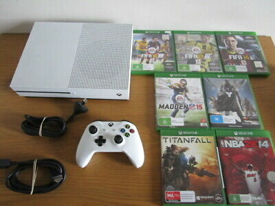 AU380 • Buy XBox One S 500GB White Console Controller Cables 7 Games Xb1 Xbox One Microsoft