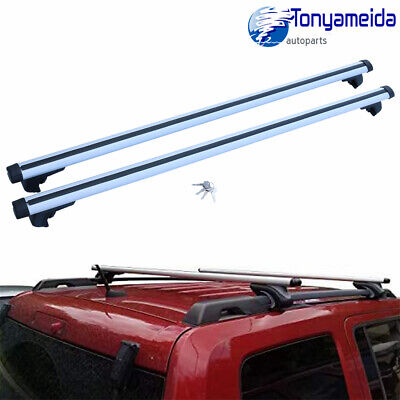 $50.99 • Buy 53  Car Top Roof Rack Cross Bars Luggage Rail Cargo Carrier Anti-theft 135cm New