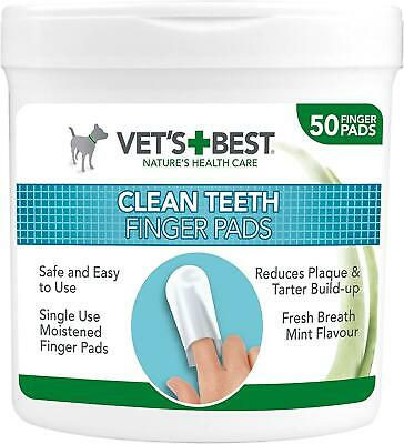 Dog Teeth Cleaning Finger Pads Dental Tooth Cleaning Wipes Plaque Tartar Remover • 6.75£