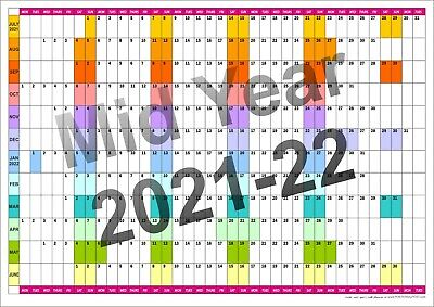 £8.55 • Buy MID YEAR WALL PLANNER Office Organiser Event Planner  July21 - June22 All Sizes