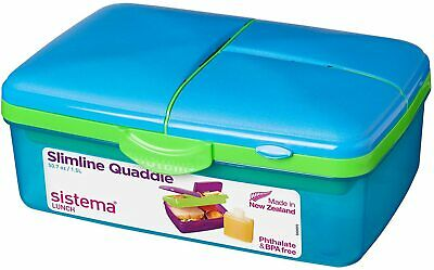 Kids Lunch Box With Compartments Plastic Food Snack Picnic Container Storage • 8.80£