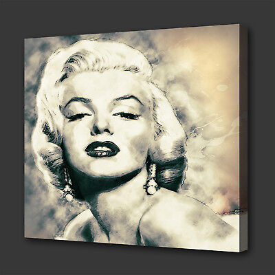 Iconic Marilyn Monroe Grunge Style Modern Wall Art Picture Canvas Print • 16.10£