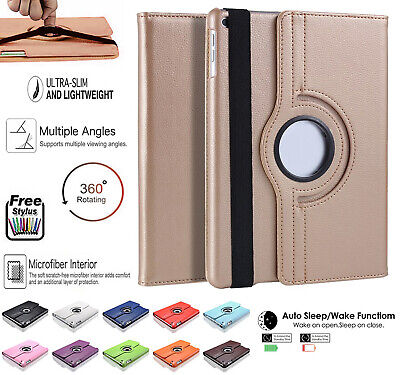 Leather 360 Rotating Smart Case Cover Apple IPad Air Pro 10.5 Air 3 Mini 5 10.2 • 3.99£