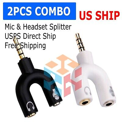 $ CDN3.45 • Buy (2-Pack) 3.5mm Stereo Audio Male To 2 Female Headphone Splitter Cable Adapter