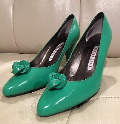 $22 • Buy AMANDA SMITH Women's Clover Green Leather Pumps High Heel Shoes Size 8 M New