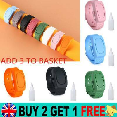 Silicone Bracelet Band Portable Soap Dispenser Hand Wash Gel Squeeze Wristband * • 3.59£