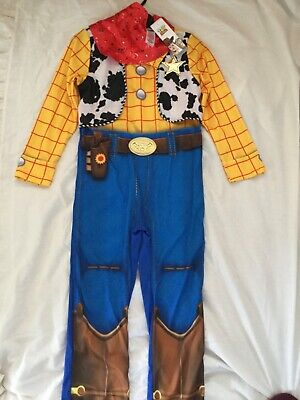 Brand New Disney Outfit Cowboy Sheriff Woody Toy Story Fancy Dress Costume 5-6 • 19.99£