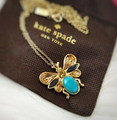 $ CDN90 • Buy New Kate Spade Unwanted Visitors Winged Bug Pendant Necklace