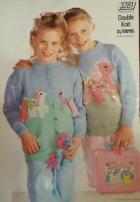 Wendy Dk Childrens My Little Pony Knitting Pattern. Sweater And Cardigan  • 1.50£
