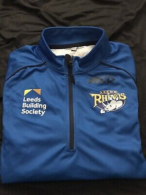 BNWT ISC Leeds Rhinos Rugby League Long Sleeves Elite Training Shirt Top - Large • 12.50£