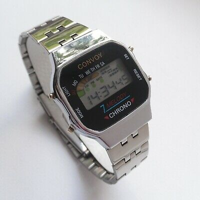 £41.60 • Buy Convoy PF PAM352 Chronograph Melody Alarm Vintage Digital Watch Early 1990s