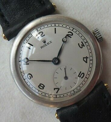 $ CDN1933.42 • Buy Rolex Trench Wristwatch Silver Case Load Manual Refinished Dial Recent Service