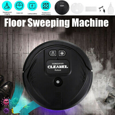UV Disinfection Smart Sweeping Robot Floor Vacuum Cleaner Auto Suction Sweeper • 16.48£