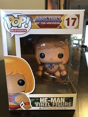 $99 • Buy He-Man Masters Of The Universe Funko Pop! #17 Rare Vaulted W/Clear Protector