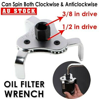 AU23.99 • Buy 2pcs 3 Jaw 2 Way Dual Drive Oil Fuel Filter Remover Wrench Removal Tool 60-110mm