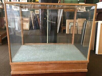 Vintage Antique Glass And Wood Shop Display Cabinet Counter Haberdashery • 50£