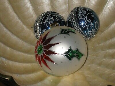 $ CDN9.99 • Buy Vintage Christmas Ornaments,lot Of 3,glass,2 Made In West Germany.One Dated 1997