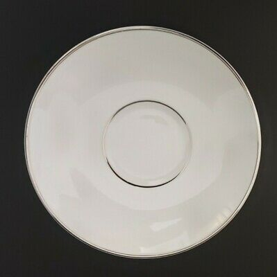 Wedgwood Regal Platinum White Bone China Saucer Excellent Condition • 5£