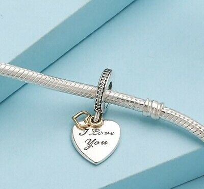 NEW GENUINE PANDORA I Love You FOREVER Pendant Charm Silver S925 ALE 792042CZ UK • 14.49£