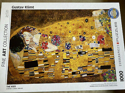$ CDN19.36 • Buy Gustav Klimt Eurographics Puzzle 1000 Pc THE KISS Fine Art Collection Complete