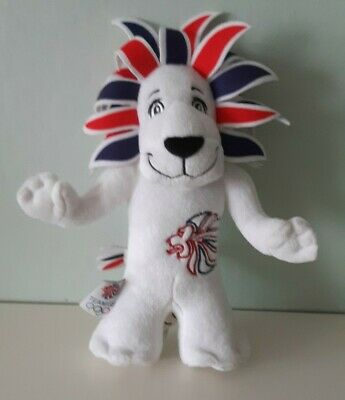 London 2012 Lion Olympic Games Team GB Mascot Soft Toy Plush Collectible • 5.99£